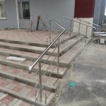 Ограждение лестницы нержавейка