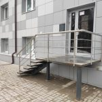ограждения уличных лестниц